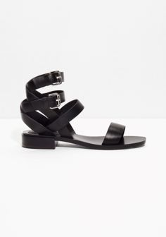 These statement sandals feature double ankle straps, a comfortably low heel and oh-so-soft leather.