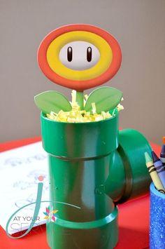 Festa Super Mario - Ideia de lembrancinha - Vasinho no cano