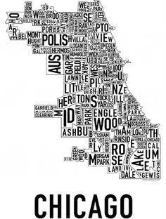 Illinois art 11x14 print Map of USA featuring Illinois map