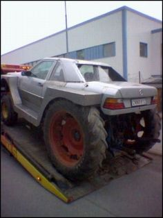 a Mercedes cross bred with a tractor, who says farming isn't high class - w 124 tractor
