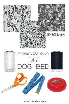 Sew your own DIY dog bed for that special pup in your life! This is a very quick sewing project, with easy to follow directions.