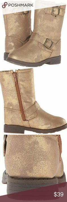 New- Carters Metallic golden boots size 5 Brand new in Box Little girls boots by Carters size 5 Carter's Shoes Boots