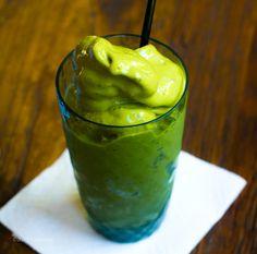 Matcha Shake  vegan, serves one    3/4 cup non-dairy milk, I use vanilla soy milk  1 cup watermelon cubes, frozen  1 1/4 bananas, frozen  1-2 tsp matcha green tea powder  1 tsp chia seeds