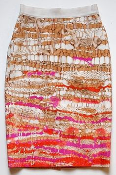 Joseph Altuzarra digital print skirt for Nieman Marcus 2014 Fashion Prints, Fashion Art, Runway Fashion, Weaving Textiles, Fabric Manipulation, Printed Skirts, Pattern Fashion, Wearable Art, Printing On Fabric
