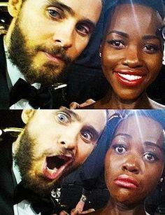 Black Girl White Boy Love ][ Lupita Nyong'o & Jared Leto    #bwwm #wmbw