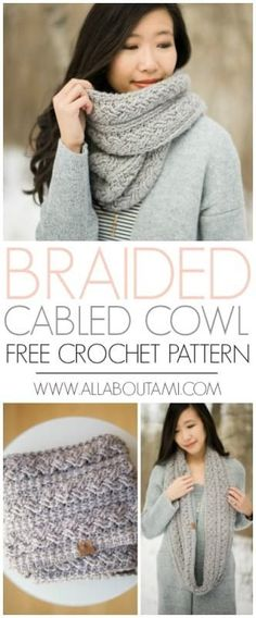 Luxurious Braided Cabled Cowl - free crochet pattern available!