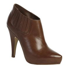 Ash Divina Bootie ($83) ❤ liked on Polyvore featuring shoes, boots, ankle booties, heels, leather booties, leather boots, leather high heel boots, heeled booties and high heel boots