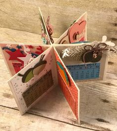3-D Calendar created with Occasions Catalog products from Stampin' Up!.