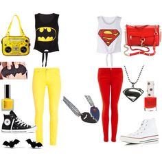 Ropa superman outfit, batman outfits, batman and superman, disney outfits, Twin Outfits, Disney Outfits, Matching Outfits, Outfits For Teens, Summer Outfits, Rock Outfits, Edgy Outfits, Winter Outfits, Bff Shirts