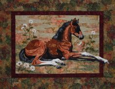 Lazy Days Toni Whitney Horse Foal Quilt Pattern and Fabric Kit Applique