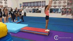 22 drills to help you master the standing back handspring in the fastest and most efficient manner without mental blocks! Gymnastics Lessons, All About Gymnastics, Boys Gymnastics, Tumbling Gymnastics, Gymnastics Coaching, Cheer Tryouts, Cheerleading, Back Handspring Drills, Flick Flack