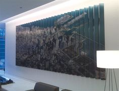 Mesirow Financial - Photograph printed direct to aluminum creating accordion wall graphic