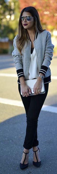 Varsity Jacket Fall Inspo by The Girl From Panama