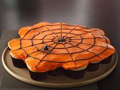 Pull-Apart Spiderweb Cupcakes Recipe from Betty Crocker
