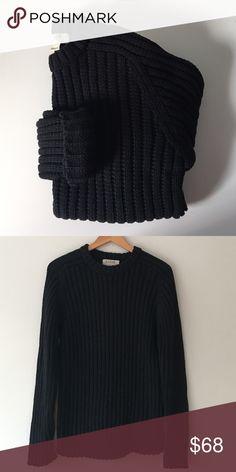 J. Crew Cotton Cable Sweater Black crew neck sweater by J. Crew. 100% cotton. Mini cable knit. Size Medium. NWOT. J. Crew Sweaters Crew & Scoop Necks