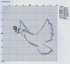animaux - animals - colombe - point de croix - cross stitch - Blog : http://broderiemimie44.canalblog.com/