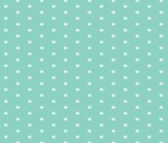 Vintage Bee - Mint fabric by sweetzoeshop on Spoonflower - custom fabric