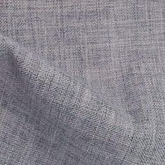 A classic, medium grey upholstery fabric that has a slubbed…