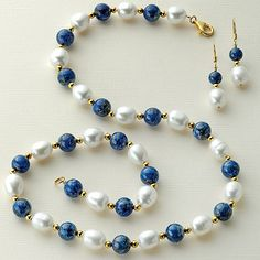 Love lapis and pearls.