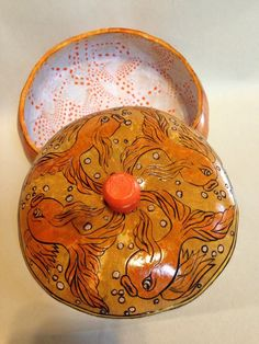 Goldfish canteen gourd box by Kim Walther