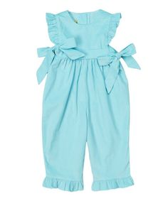 Look what I found on #zulily! Sky Blue Ruffle Romper - Infant & Toddler #zulilyfinds