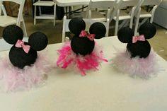 Centri de Mesa con Plumas Minnie Mouse