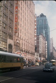 DTLA in the 1940's. One of the things I love about downtown LA is that, apart from the cars and the trolley, a lot of parts still look like this.