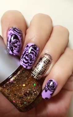 Love purple❤️ Bunny nails plate-Buna
