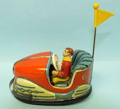 Hoch & Beckmann Bumper Car Tin Wind Up Toy