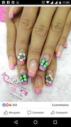 Pretty Nail Designs, Nail Art Designs, Acrylic Colors, Nail Colors, Magic Nails, Paws And Claws, Better Than Yours, Beautiful Nail Art, Flower Nails