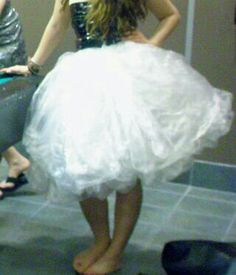 Make a puffy skirt out of duct tape and garbage bags. Found on instructables.com