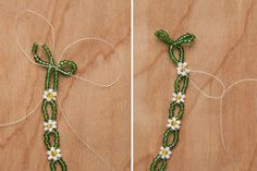 Beaded accessories are on trend for summer and with the weather only getting warmer, I wanted to create a delicate beaded version of a daisy chain crown. This was my first time beading, and I was pleasantly surprised by how easy it was! I love the modern 70s vibe of this headband paired with an off-white lace dress. I'm ready for festival season!