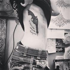 ❤ this johnny cash tattoo