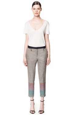 Love those pants! -PRINT TROUSERS from Zara