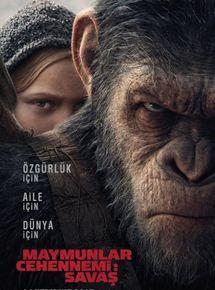 Maymunlar Cehennemi Savaş İzle, Maymunlar Cehennemi Savaş Türkçe Dublaj izle, Maymunlar Cehennemi Savaş filmi izle