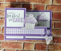Patty Chenail: Stampin' Up! Hello Cupcake and Amazing Life stamp sets; Video--Z-Fold Card Fancy Fold Cards, Folded Cards, Cupcake Card, Paper Cupcake, Step Cards, Easel Cards, Card Tutorials, Birthday Cards, Birthday Images
