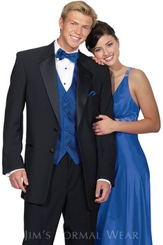 Trend Style Black And Blue Tuxedo For Prom Fashion Pictures