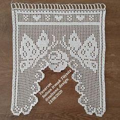 Crochet Curtain Pattern, Crochet Angel Pattern, Crochet Curtains, Crochet Motifs, C2c Crochet, Curtain Patterns, Crochet Tablecloth, Filet Crochet, Crochet Baby