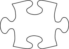 easy coloring picture puzzle piece - Google Search