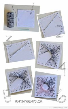 string art diy on cardboard tutorial easy step by step on Easy String Art turorial on cardboard full of holes