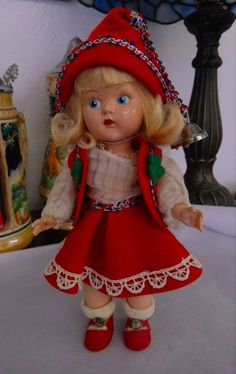 Vintage Vogue Ginny Painted Eye PE Blonde Strung Doll Early Tag STEPHANIE Rare!
