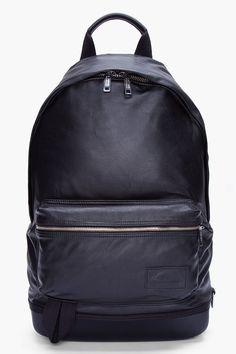 KRISVANASSCHE Black Leather Backpack