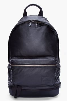 KRISVANASSCHE Black Leather Backpack