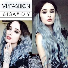How to Go from Dark Hair to Pastel Color in One Set of Hair Extensions  Rachelgeorgina styled her black to blue ombre hair into waves. a very elegant look use 'rachelgeorgina01' for $10 off at vpfashion &vpfashion blog