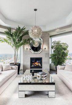 Glam Living Room, Living Room Decor Cozy, Condo Living, Living Room Remodel, Dream Home Design, Home Interior Design, House Design, House Of Decor, Casa Clean
