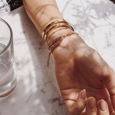 """7,472 Likes, 26 Comments - Rumi Neely (@rumineely) on Instagram: """"The new @areyouami bracelets  Tsuki and Era ✨"""""""