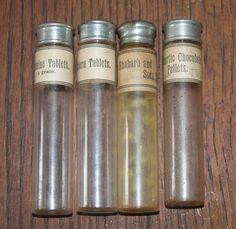set of 4 antique PHARMACEUTICAL VIALS by 1000VintageDivaFinds