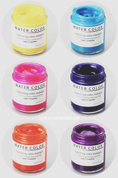 WATER COLOR HYDRATING HAIR MASQUE - there's a new nourishing way to get your favorite hue and it won't rub off on your clothes! Hooray!!! I've always wanted to have some sort of pink in hair. Problem is I'm to chicken to actually do it lol. This might be kinda fun