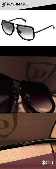 Dita Mach One Matte Black Sunglasses ‼️100% Authentic‼️                                          Pre-owned. No scratches on the lens. Comes with box and cloth.                                           Titanium Front Frame With Plastic Lens Rim Detail Titanium Temples Custom Flex Hinges Titanium Nose Pads Handcrafted Japanese Acetate Temple Tips Double Nylor Detail 100% UV Protected Lens With Anti-Reflective Lens Coating. Accepting offers, no lowballing and no trades. Dita Accessories…