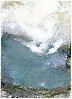 Tuomo Saali, Caldera 2. oil on canvas, 2017, 95x70cm